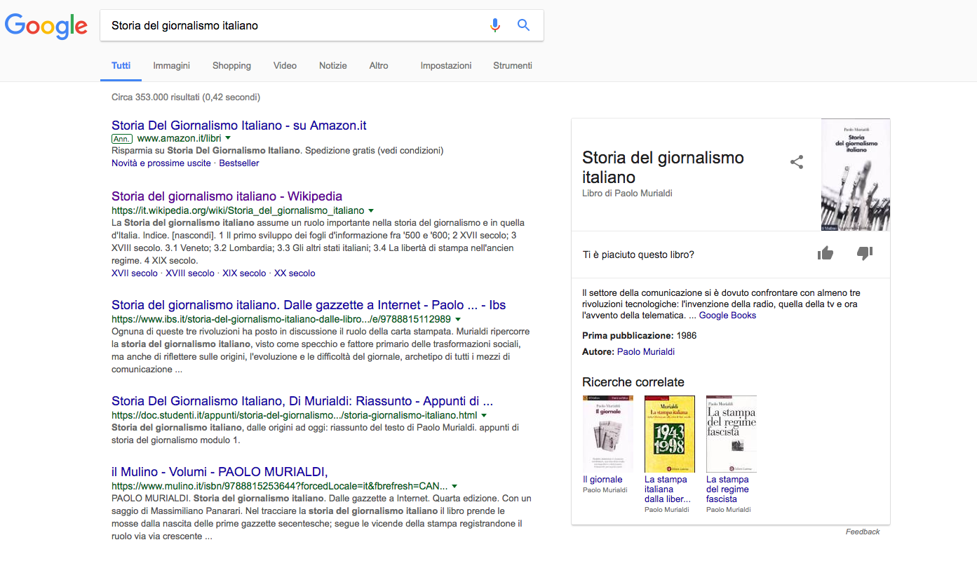 Knowledge Graph di Google